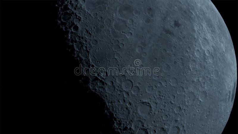 De maan in duisternis bij de woestijn van Negev van Israël stock afbeeldingen