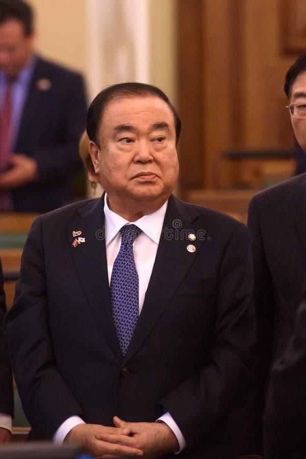 De maan hee-zong, Spreker van de Nationale assemblee van de Republiek Korea royalty-vrije stock afbeeldingen