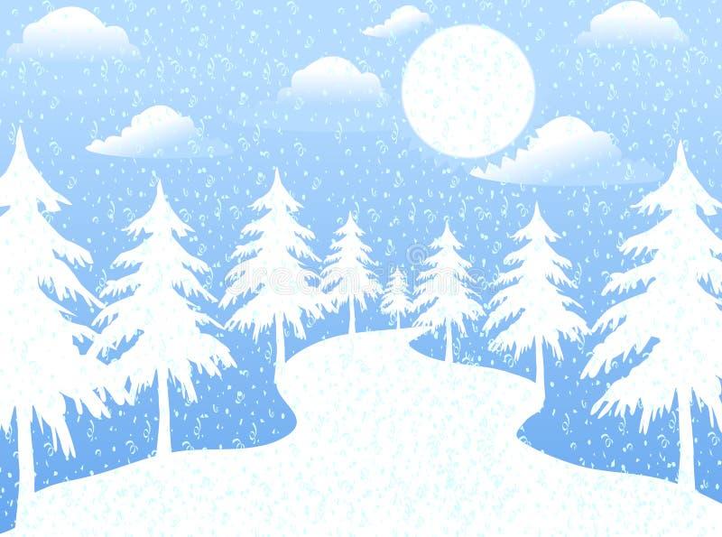 De maan in Kerstmisdag vector illustratie