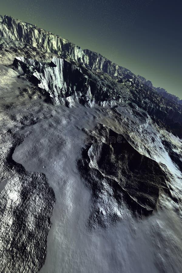 Download De maan van Acheron stock illustratie. Afbeelding bestaande uit baan - 27925