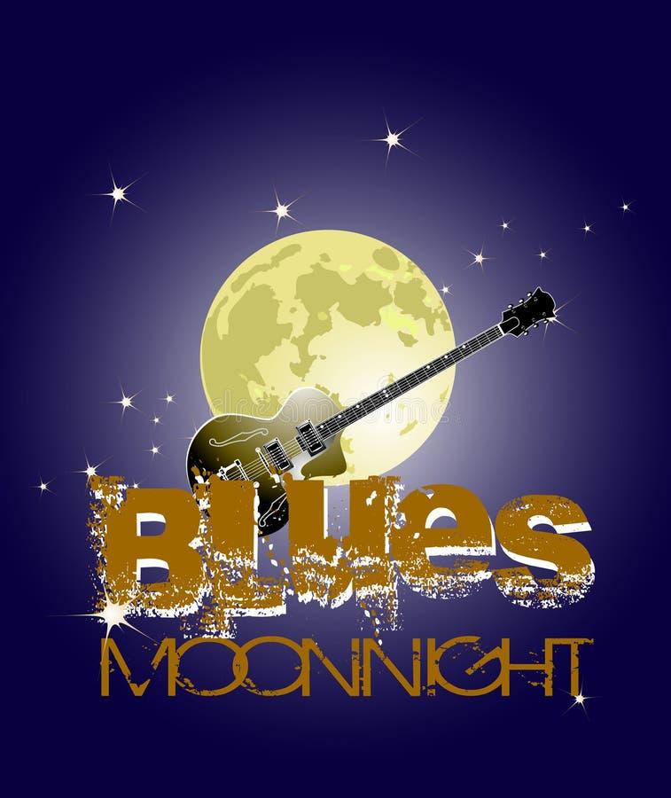 De maan van blauw stock illustratie