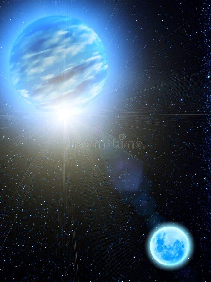 De maan van de de sterrenAarde van de hemel royalty-vrije illustratie