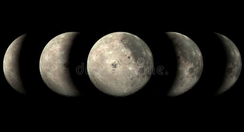 De maan van de fase stock illustratie