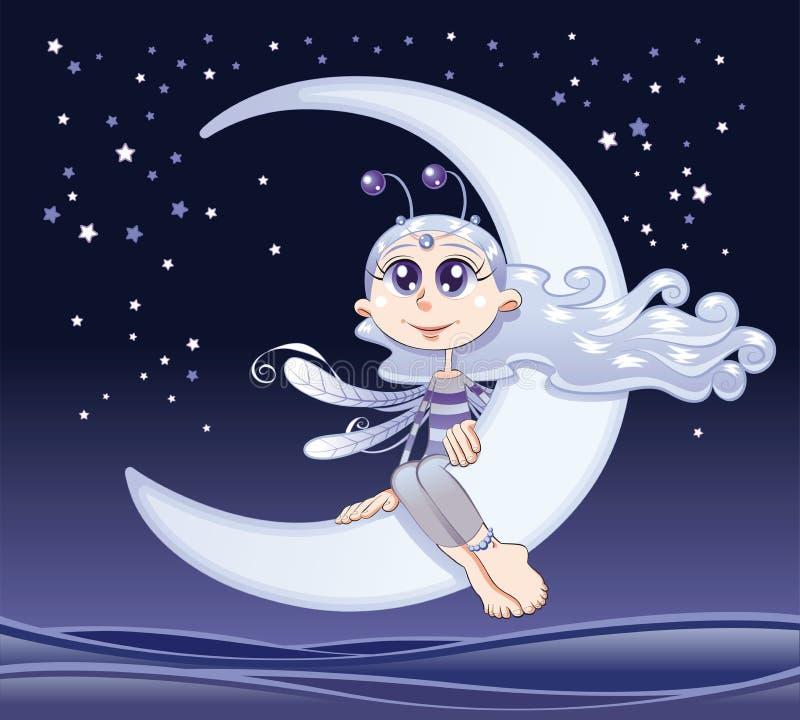 De maan van de fee stock illustratie