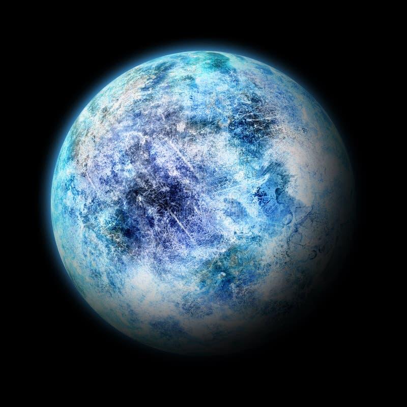 De maan van de planeet royalty-vrije illustratie