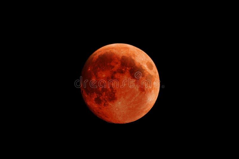 De Maan van het hoge Resolutiebloed tijdens Maanverduistering royalty-vrije stock foto