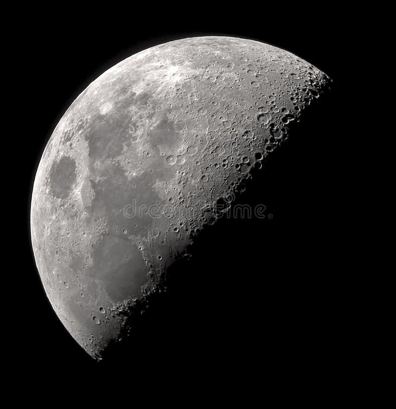 De maan van het kwart royalty-vrije stock afbeeldingen