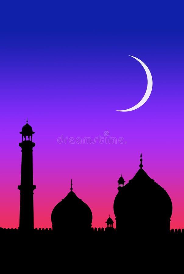 De maan van het mohammedanisme stock illustratie