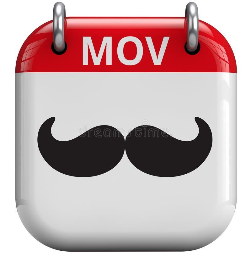 De Maand van de Movembersnor royalty-vrije illustratie