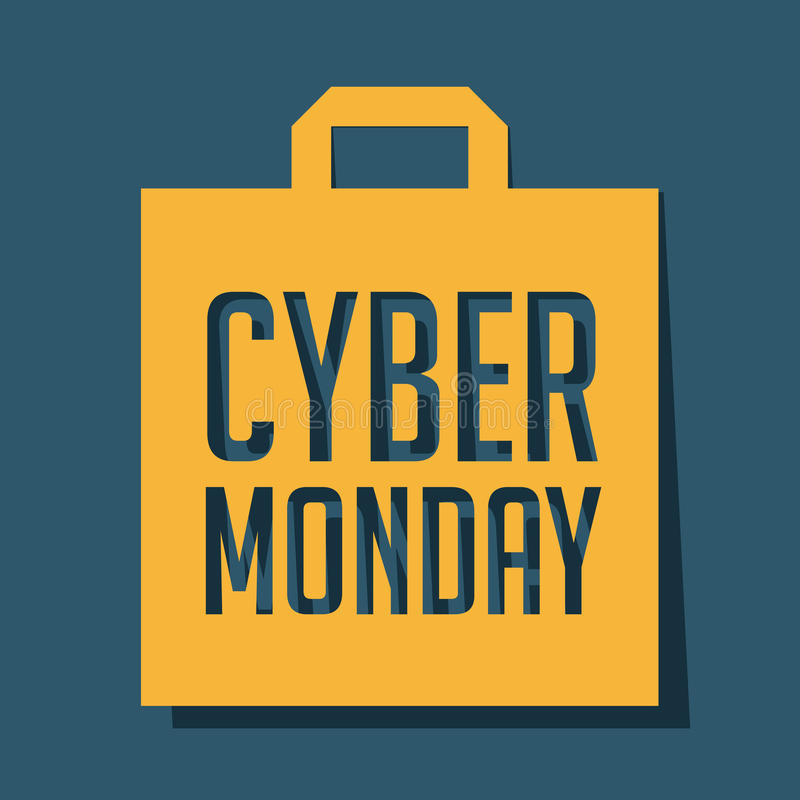 De Maandag van Cyber royalty-vrije illustratie