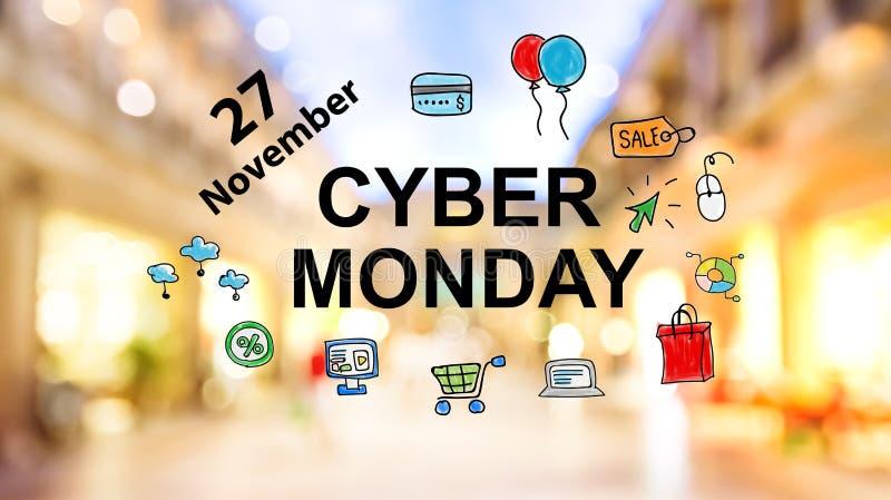 De Maandag van Cyber stock afbeelding