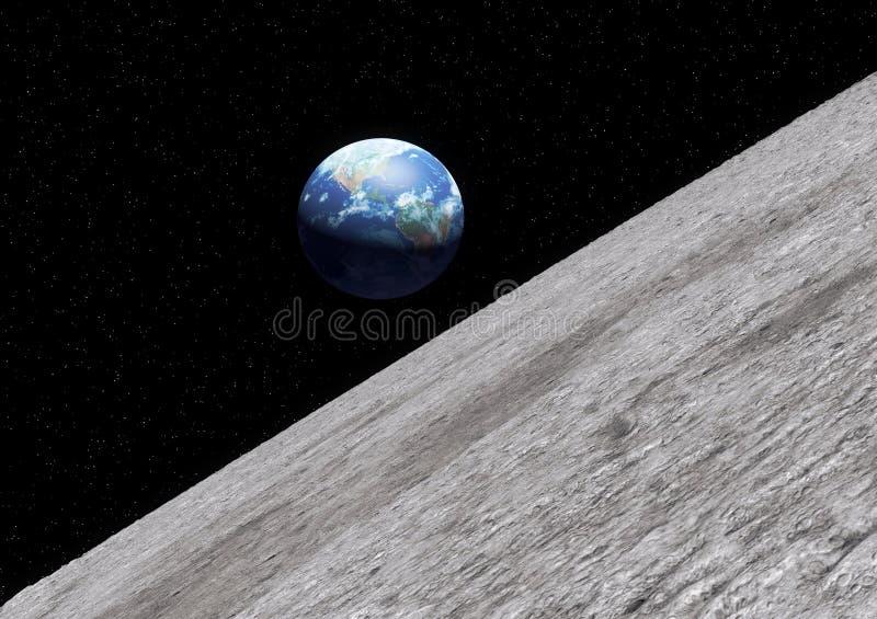 De maanoppervlakte van de aarde vector illustratie