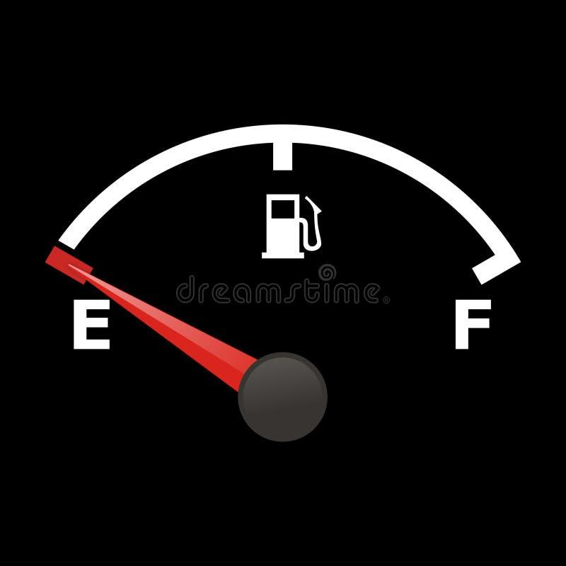 De maat van de brandstof vector illustratie