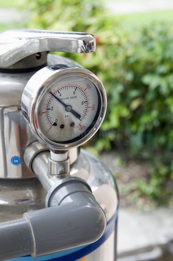 De maat van de de filterdruk van het water. royalty-vrije stock foto's