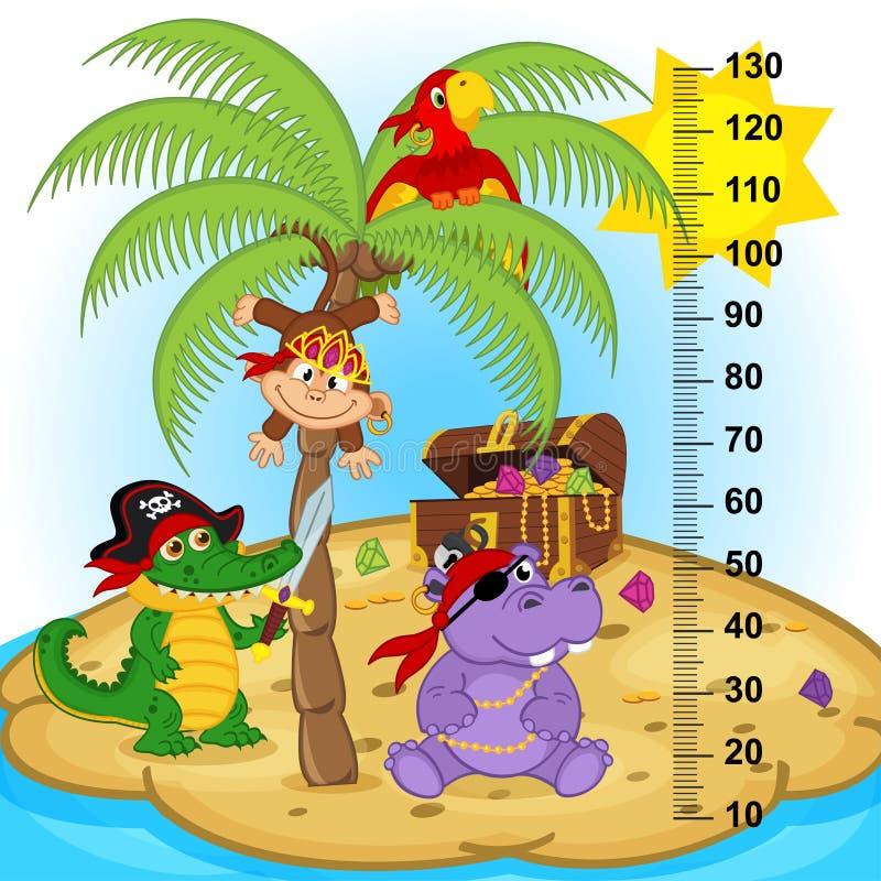 De maatregel van de palmhoogte vector illustratie