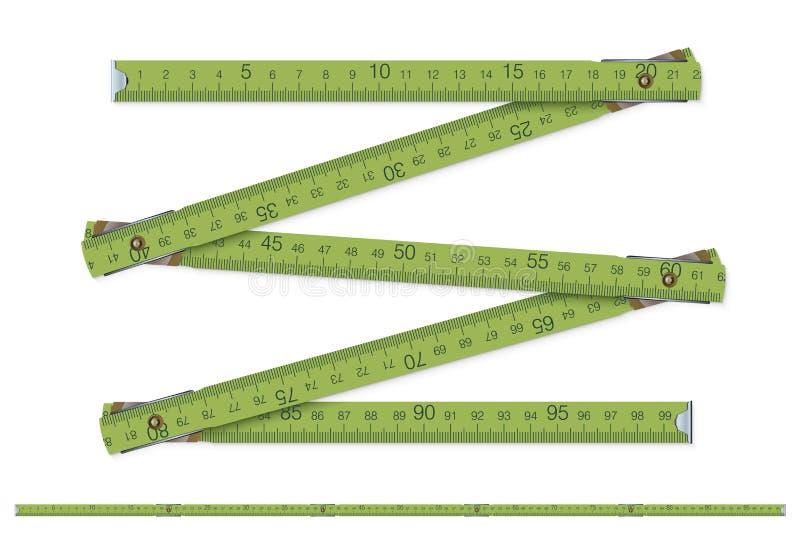 De maatregel van de timmerman vector illustratie