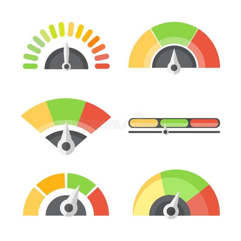 De maatregel van het benchmarkniveau stock illustratie