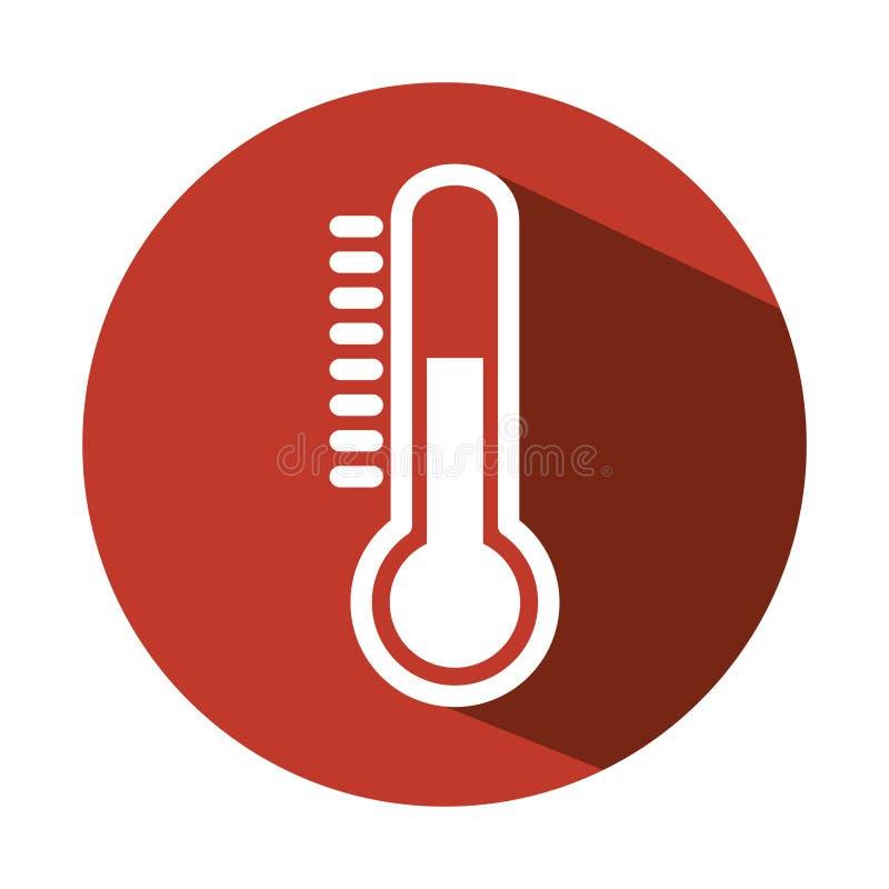 De maatregelenpictogram van de thermometertemperatuur stock illustratie