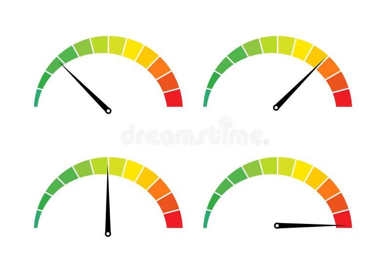 De maatregelenpictogram van Internet van de snelheidstest Vector illustratie royalty-vrije illustratie