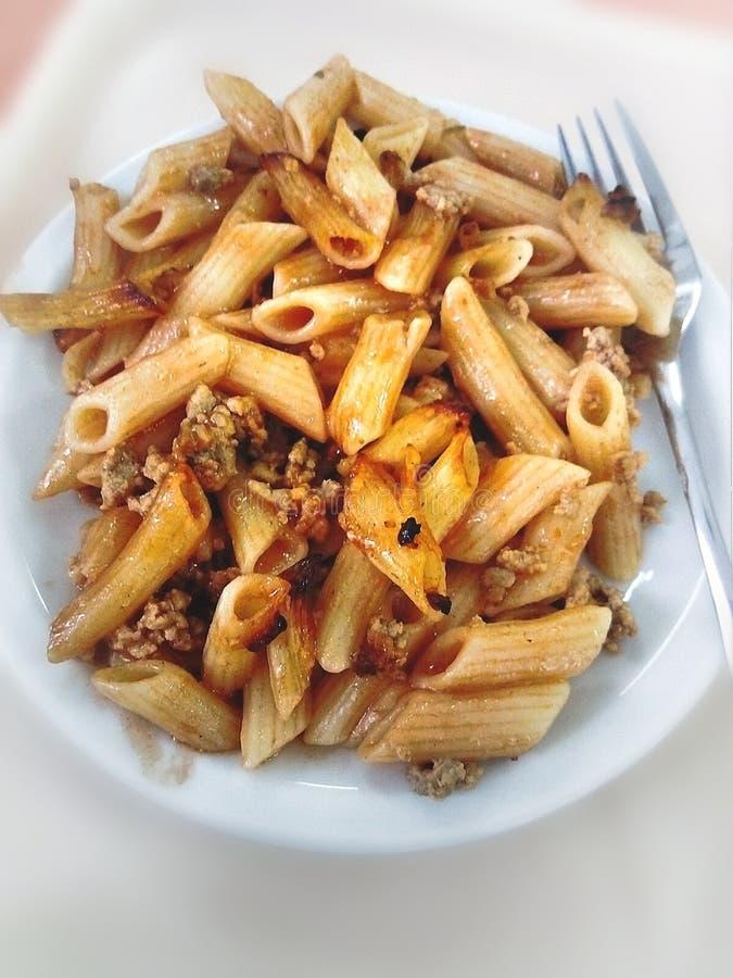 De macaroni met komt samen royalty-vrije stock fotografie