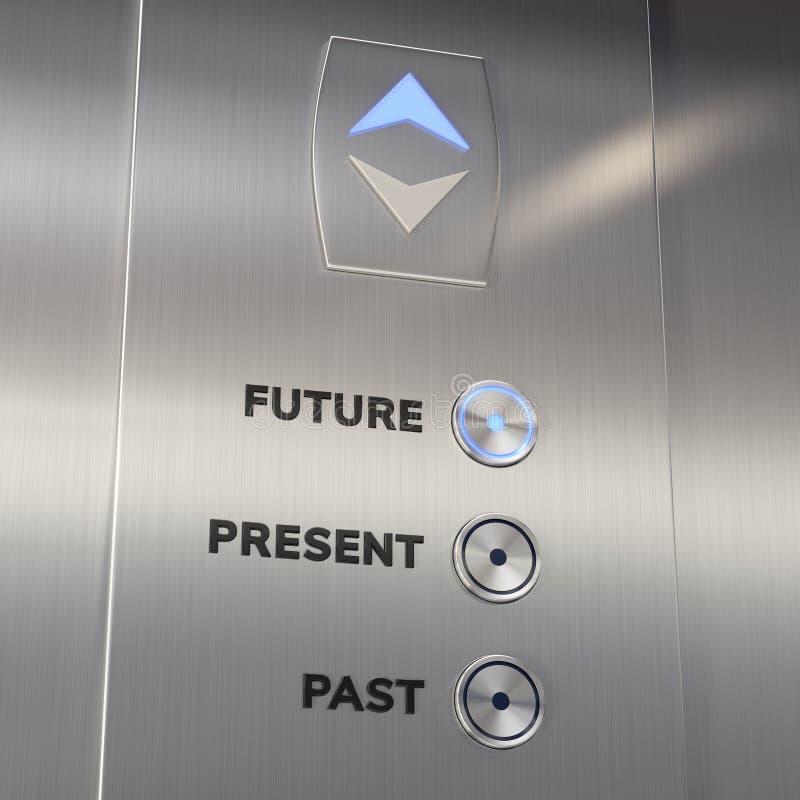 De machine die van de lifttijd naar de toekomst gaan royalty-vrije stock foto