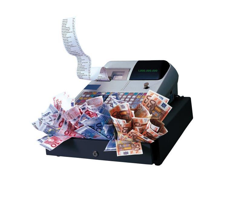 De Machine en de Euro van het register royalty-vrije stock afbeelding