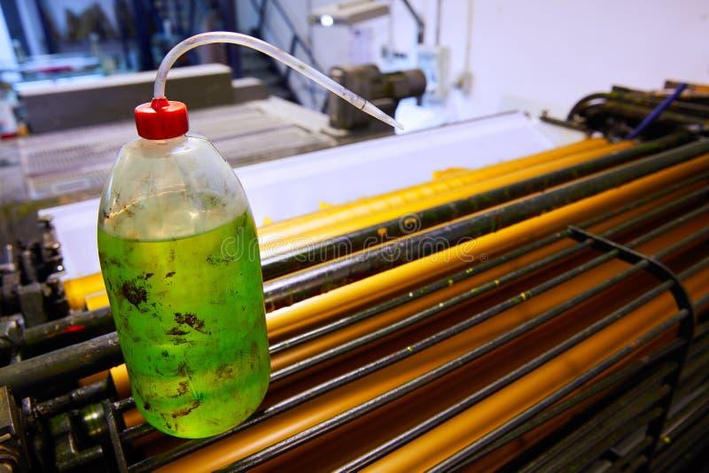 De machine roterende druk van de printerinkt stock foto's