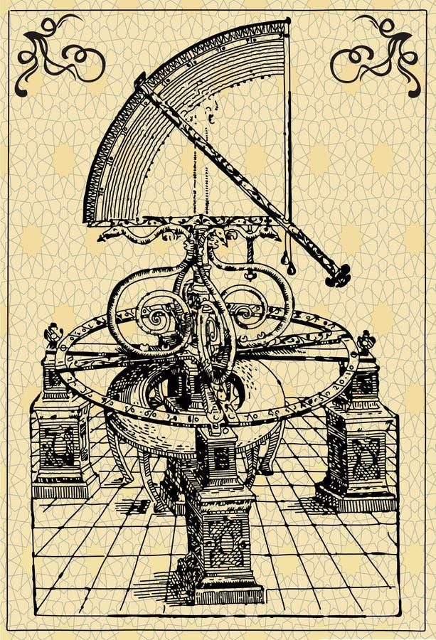 De machine van astronomen, kwadrant vector illustratie