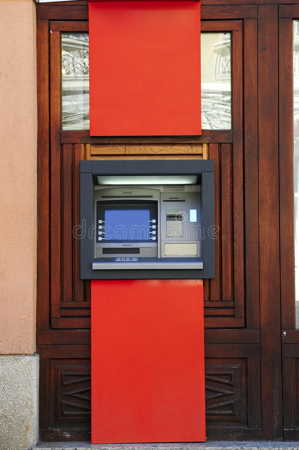 De machine van ATM stock foto