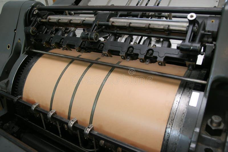 De machine van de druk stock fotografie