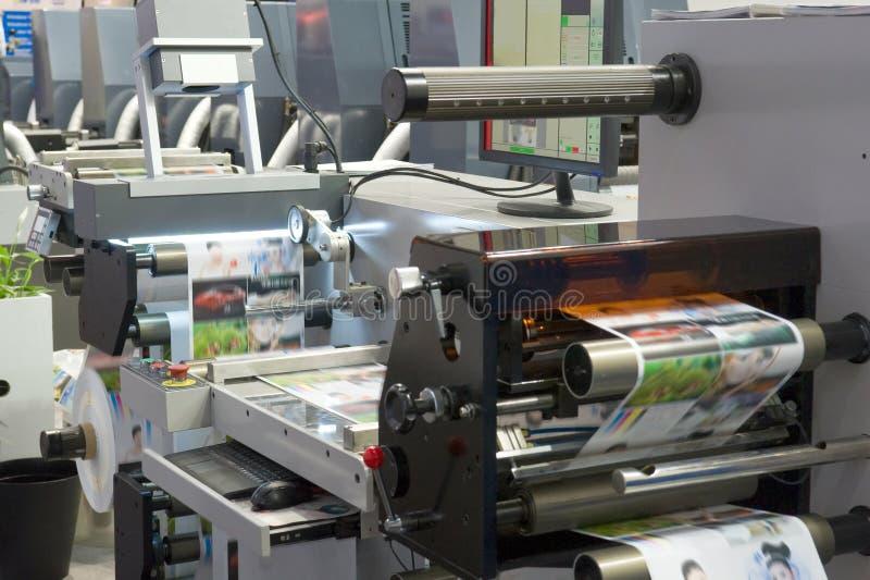 De machine van de druk stock afbeelding