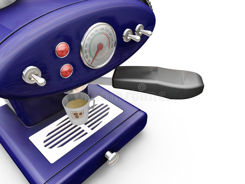 De machine van de koffie stock illustratie