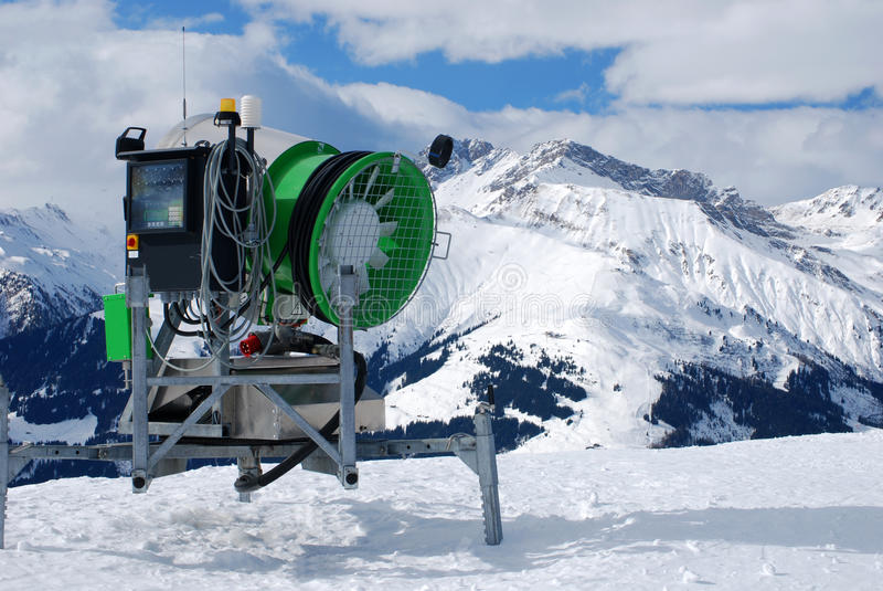De machine van de sneeuw stock afbeeldingen