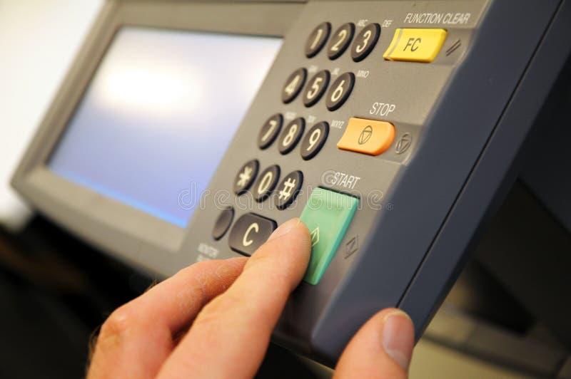 De machine van het exemplaar stock foto