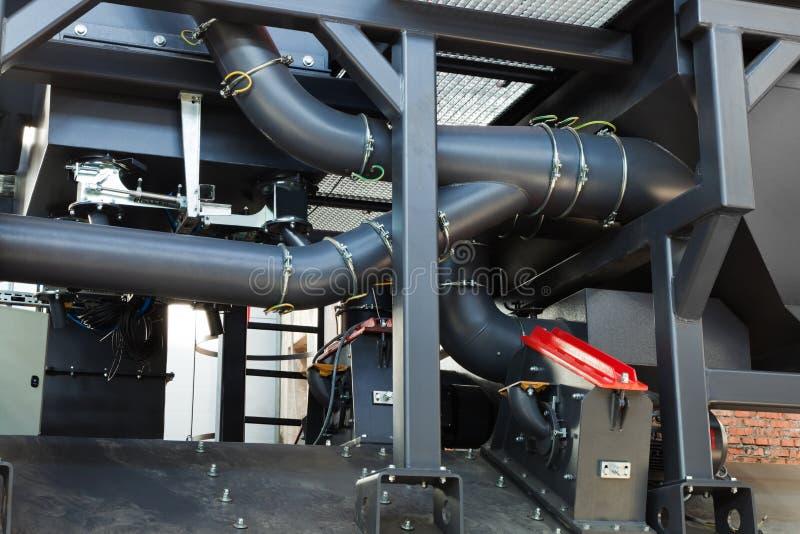 De machine van het zandstralen stock afbeelding