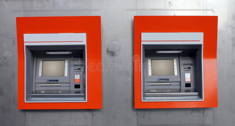 De machines van ATM stock foto