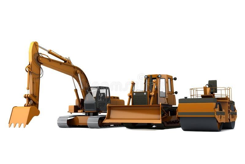 De machines van de weg stock illustratie