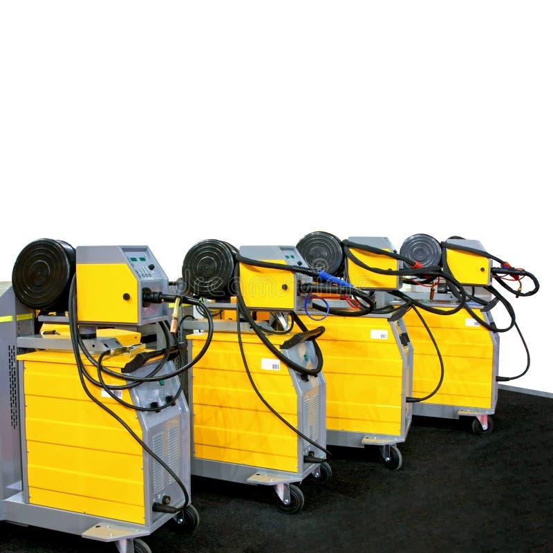 De machines van het lassen stock fotografie