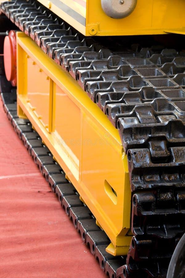 De machinespoor van de mijnbouw royalty-vrije stock foto's