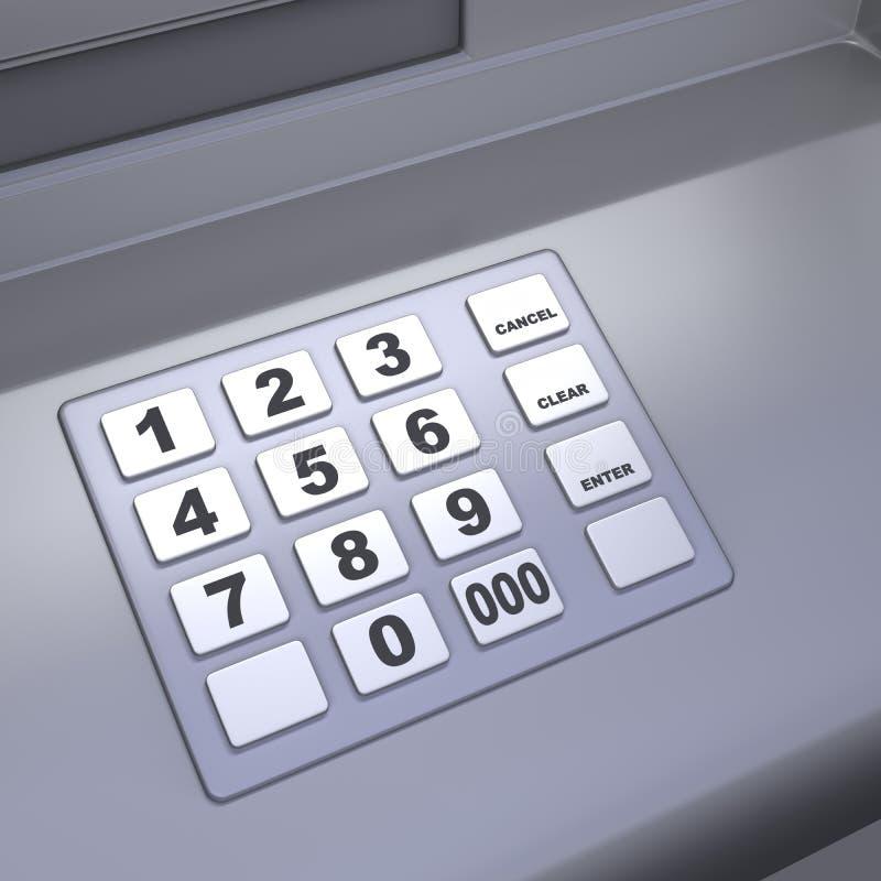 De machinetoetsenbord van ATM royalty-vrije stock foto's