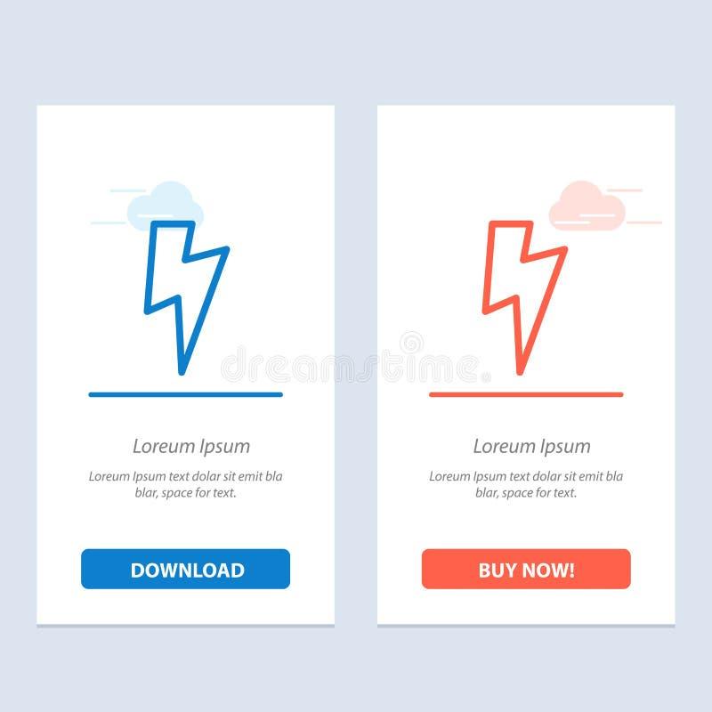 De macht, Fundamentele, van Ui Blauwe en Rode Download en koopt nu de Kaartmalplaatje van Webwidget vector illustratie