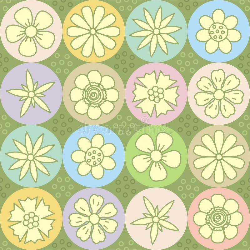 De macht van de bloem herhaalt patroon (naadloze achtergrond) stock illustratie