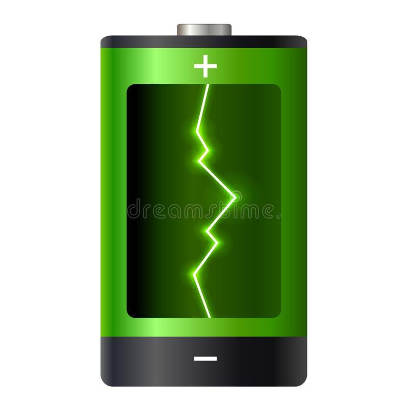 De macht van de conceptenbatterij stock illustratie