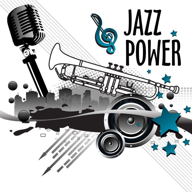 De macht van de jazz royalty-vrije illustratie