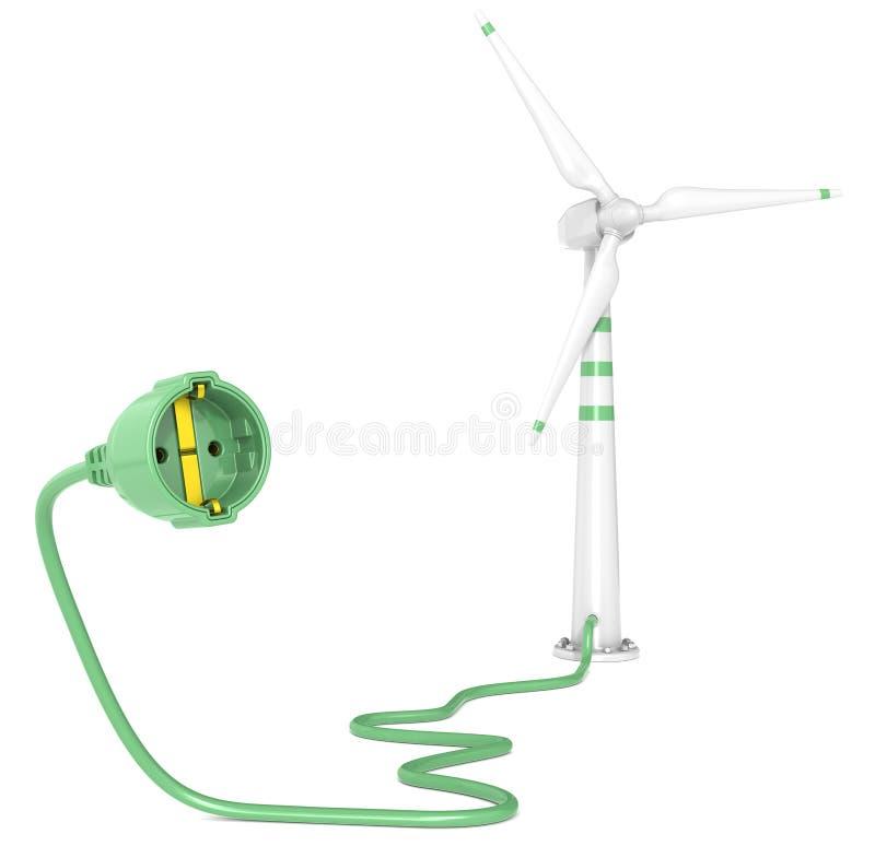 De Macht van de wind. stock illustratie