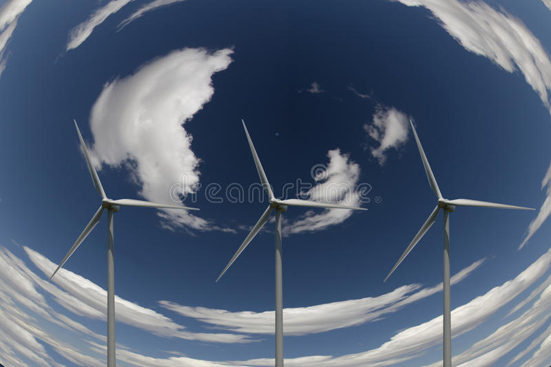 De Macht van de wind stock illustratie