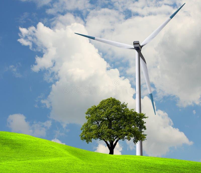 De macht van de wind, ecologie stock foto's