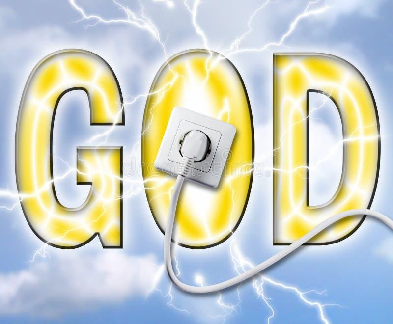 De macht van goden stock illustratie