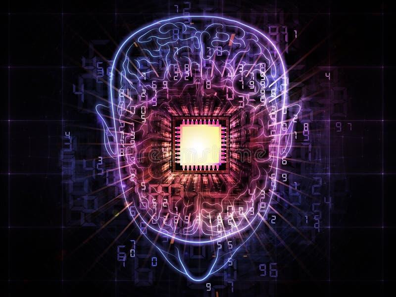 De macht van hersenen vector illustratie