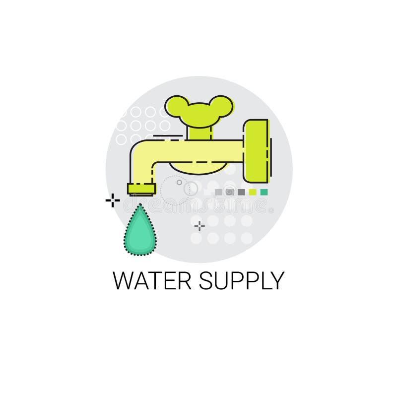 De Macht van het Watervoorzieningsenergierendement - sparen Uitvinding vector illustratie